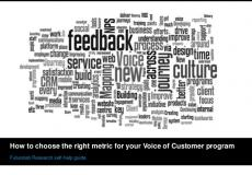 Voice of customer metrics